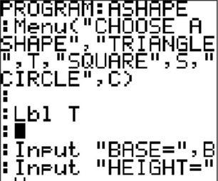 Programming using the TI-84 Plus