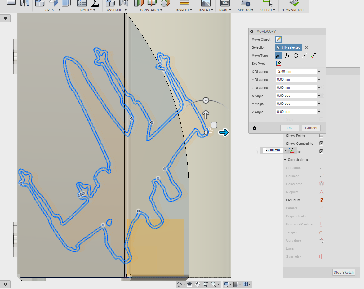 Picture of Add a Work Plane and Import the .dxf File