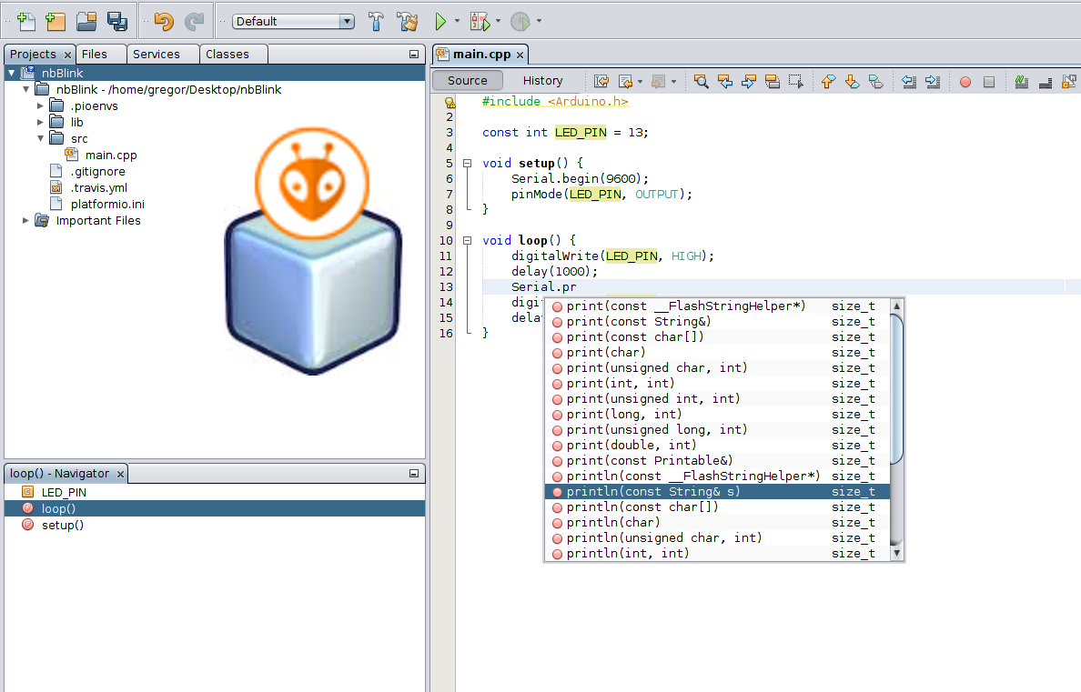 Picture of How to Integrate PlatformIO With Netbeans