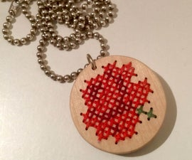 Create your own cross stitch necklace