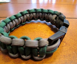 How to Make a Cobra Stitch Paracord With 2 Colors