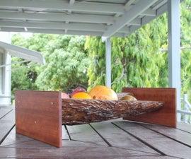 DIY Tree Bark Fruit Bowl
