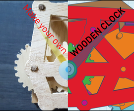 Wooden Clock Designed With Tinkercad