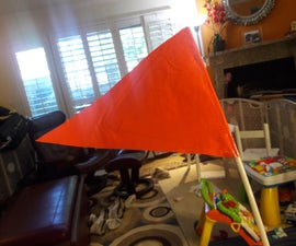 Duct Tape Bike Trailer Safety Flag
