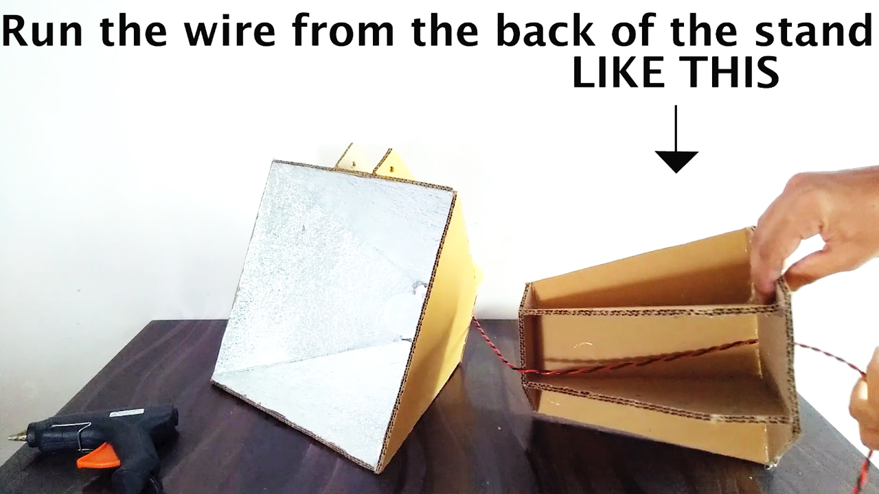 Picture of Draw the Wire Down From the Bottom of the Base As Shown ( Refer Video )