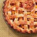 Peach-Mango Pie with a Lattice Crust