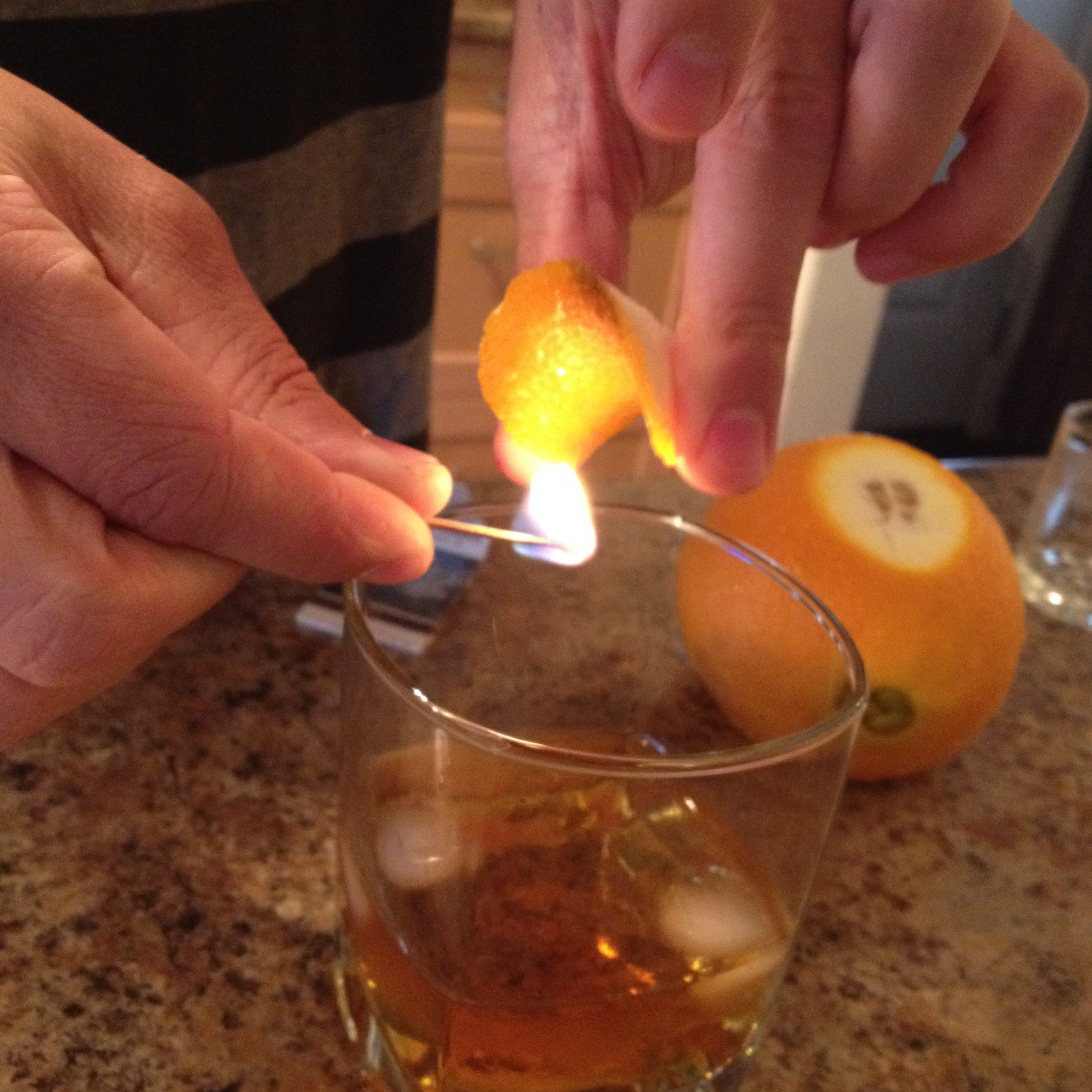 Picture of Flamed Citrus Old Fashioned