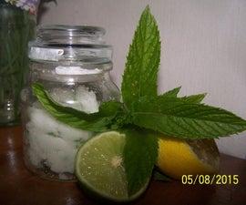 Citrus and Mint Foot Scrub