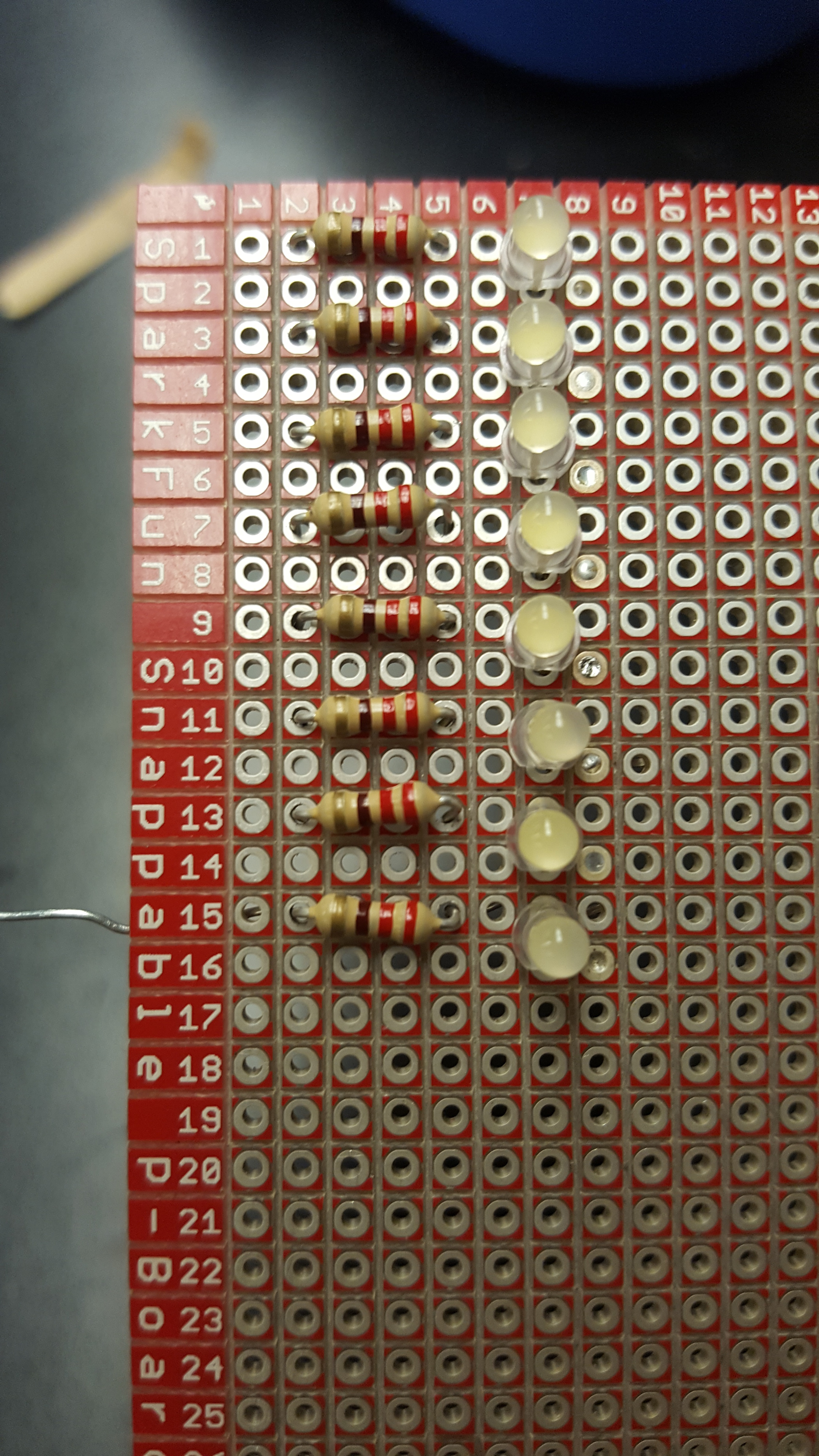 Picture of Solder the LED's