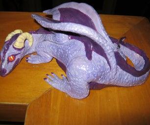Sculpture of a Purple Dragon