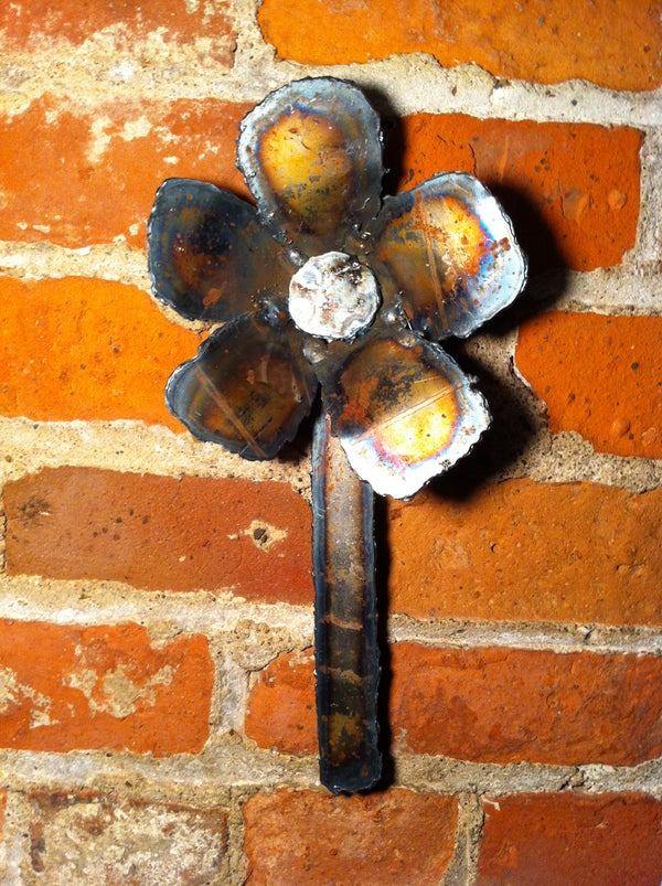 Sheet Metal Flower to Practice Plasma Cutting and Welding