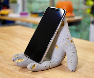 DIY Concrete Phone Hand Stand