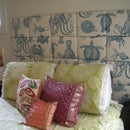 Fabric Upholstered Bed Headboard