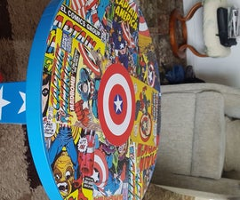 Captain America Themed Kids Bedside Table