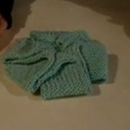 Easy Crafts with Knitted Rolls: Flower Hot Pad