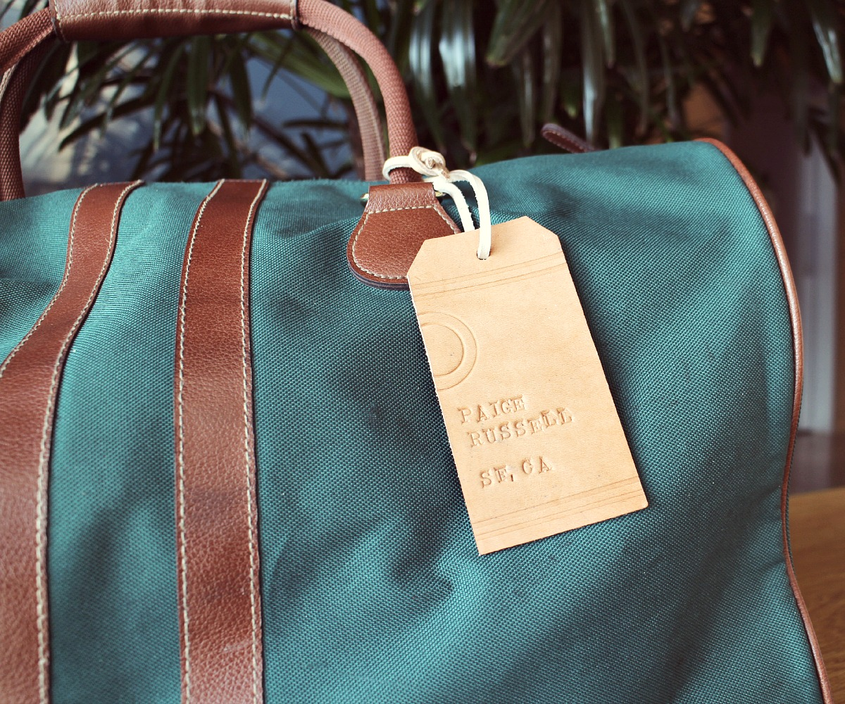 Picture of Leather Luggage Tags