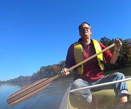 Custom Laminated Canoe Paddle