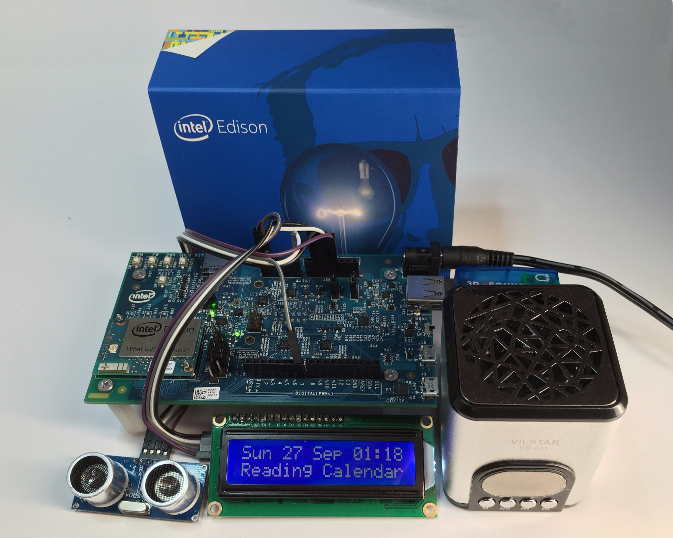 Picture of Intel Edison, Proximity Activated, Speaking Calendar