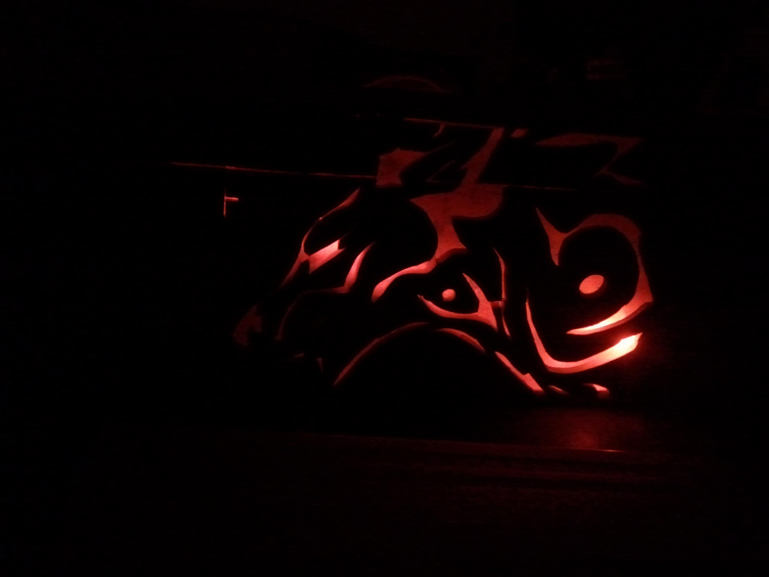 Picture of Wooden Lion/Wolf Art (Pallet Wood) 16+ Color Bulb (LED)