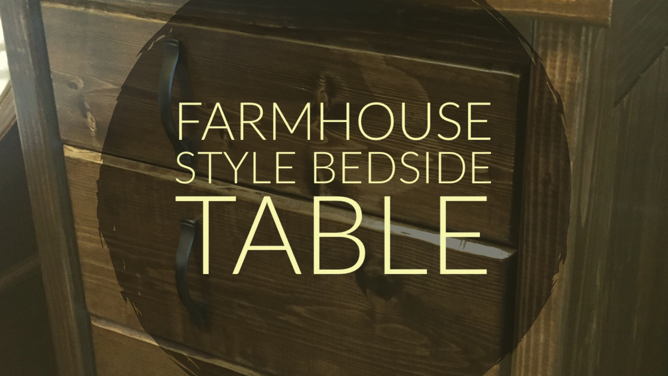 Picture of Farmhouse Style Bedside Table
