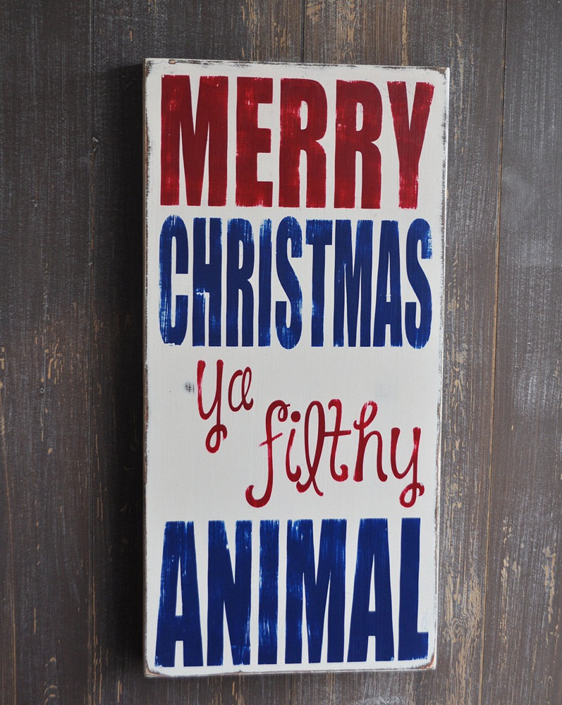 Picture of Christmas Hand Painted Sign