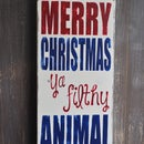 Christmas Hand Painted Sign
