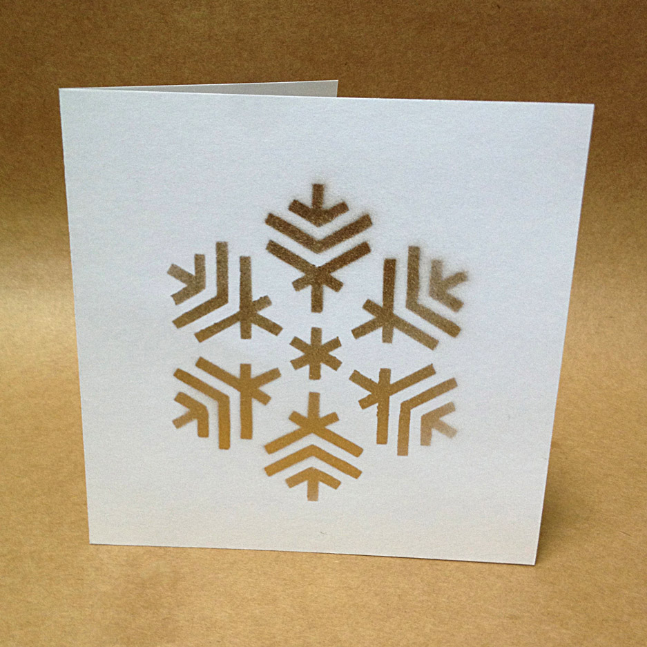 Picture of Easy Stenciled Christmas Cards