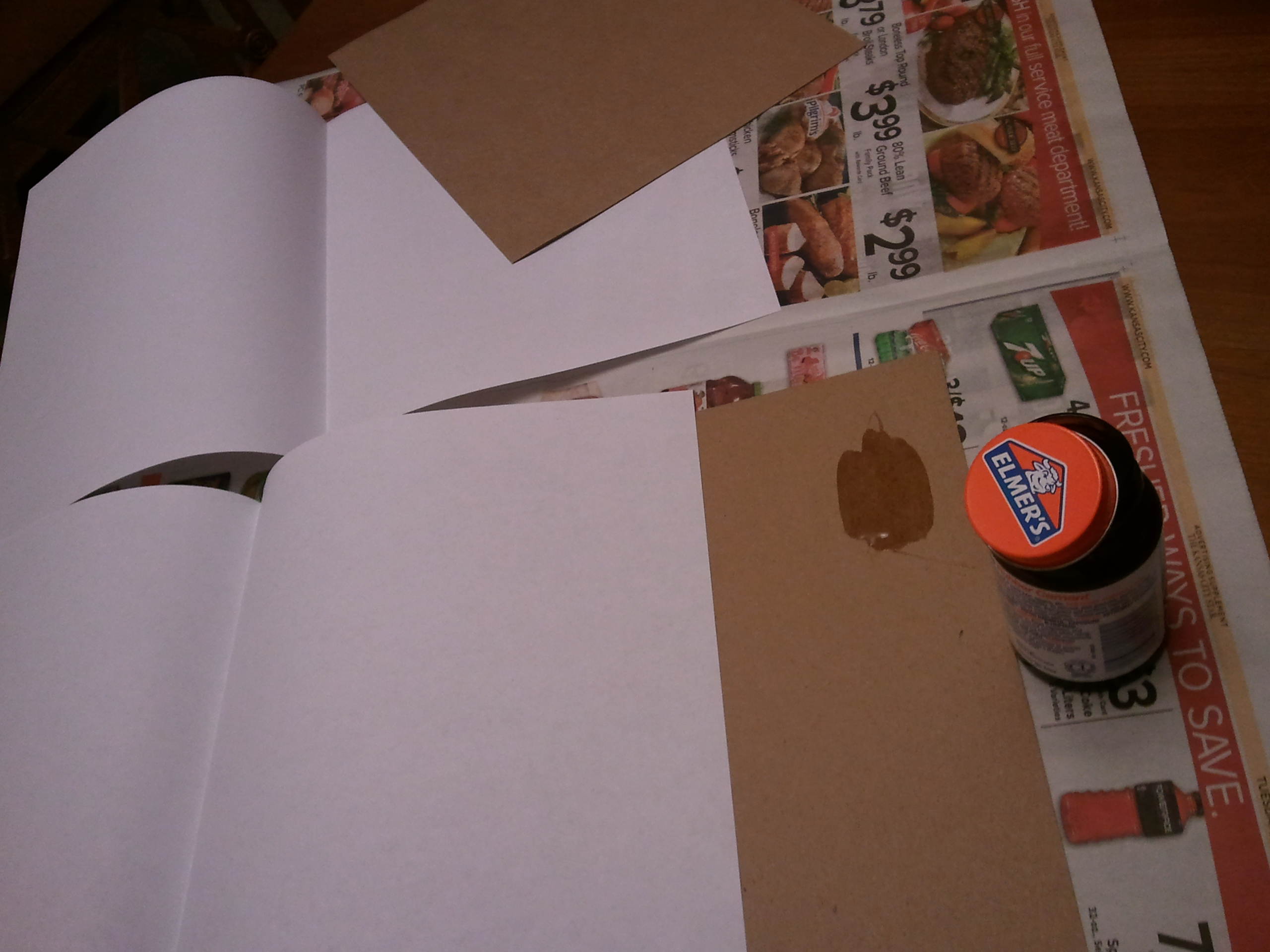 Picture of Glue the Covers to the Leaf Pages
