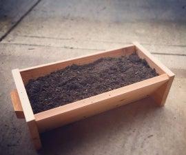 One Board Cedar Planter Box