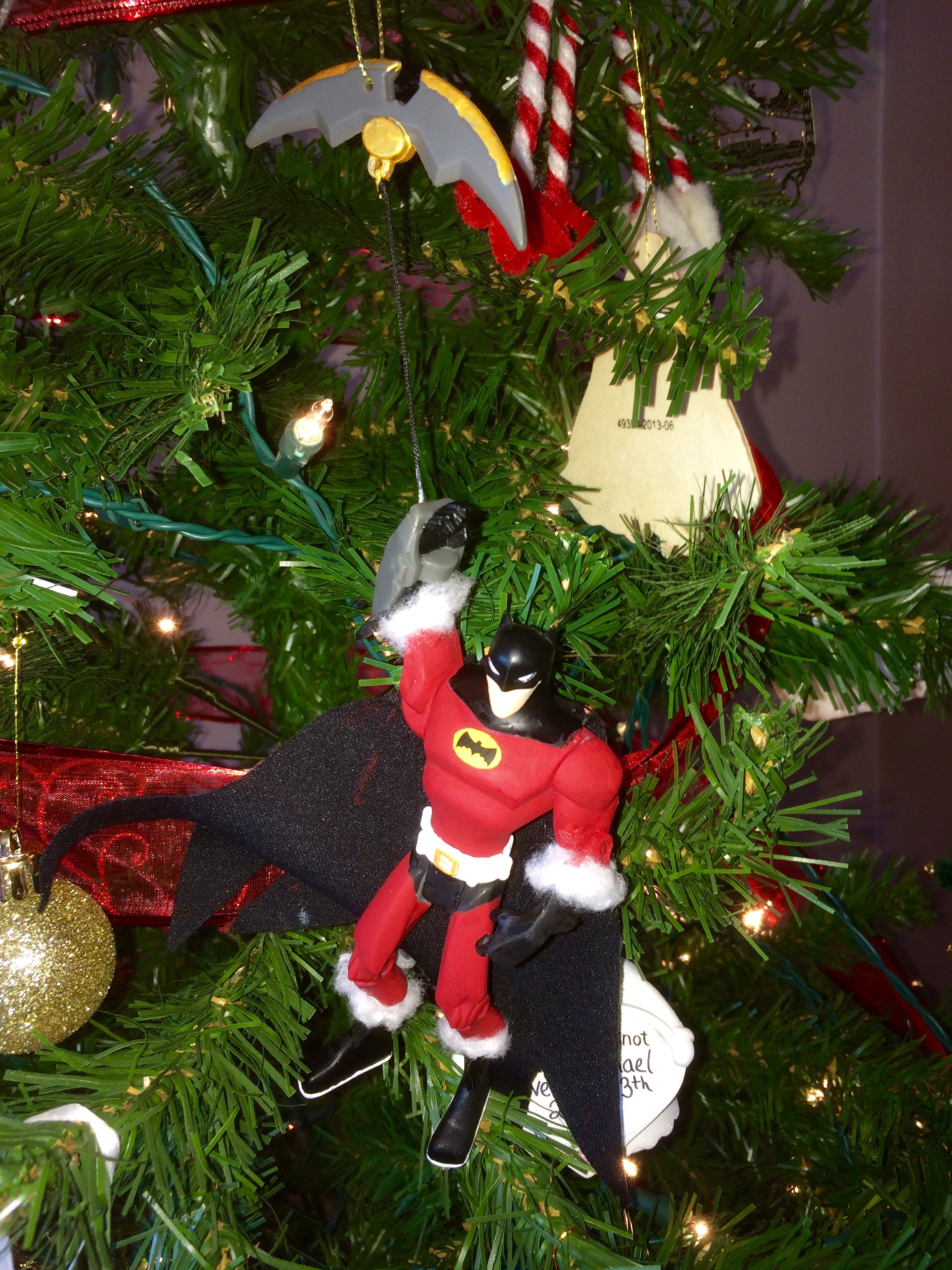 Picture of Homemade Super Hero Christmas Ornament