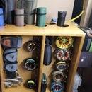 Fly Rod and Reel Storage Shelf