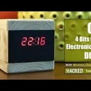 C51 4 Bits Electronic Clock - Wooden Clock
