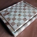 Chessboard Style Cutting Board From Offcuts