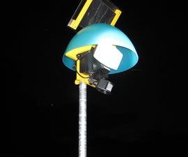 Solar Lamp On a Pole, Under a Bowl