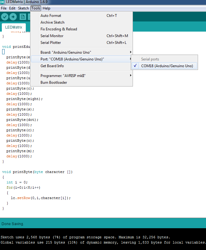 Picture of Upload Arduino Code