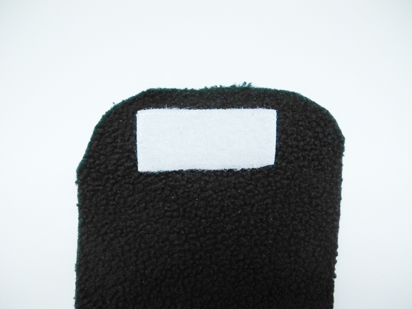 """Picture of Sew Velcro to Fleece, and Add a """"pleat"""" for the Nose Area"""