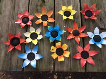 Recycled Can Flowers