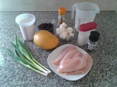 Blueberry Mango Coconut Feta Chicken Recipe