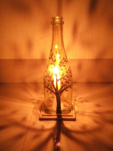 Simple Glass Bottle Lamp