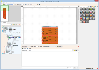 In Visuino: Setup the Module As Access Point