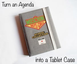 Turn an Old Agenda into a Tablet Case