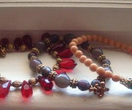 D.I.Y Stacked Beaded Bracelets