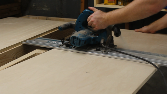 Cutting and Attaching the Plywood Tops
