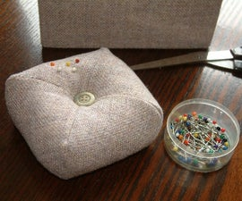 SewUseful, Easy and Practical a Pin Cushion Made Using Just 1 Square of Fabric.