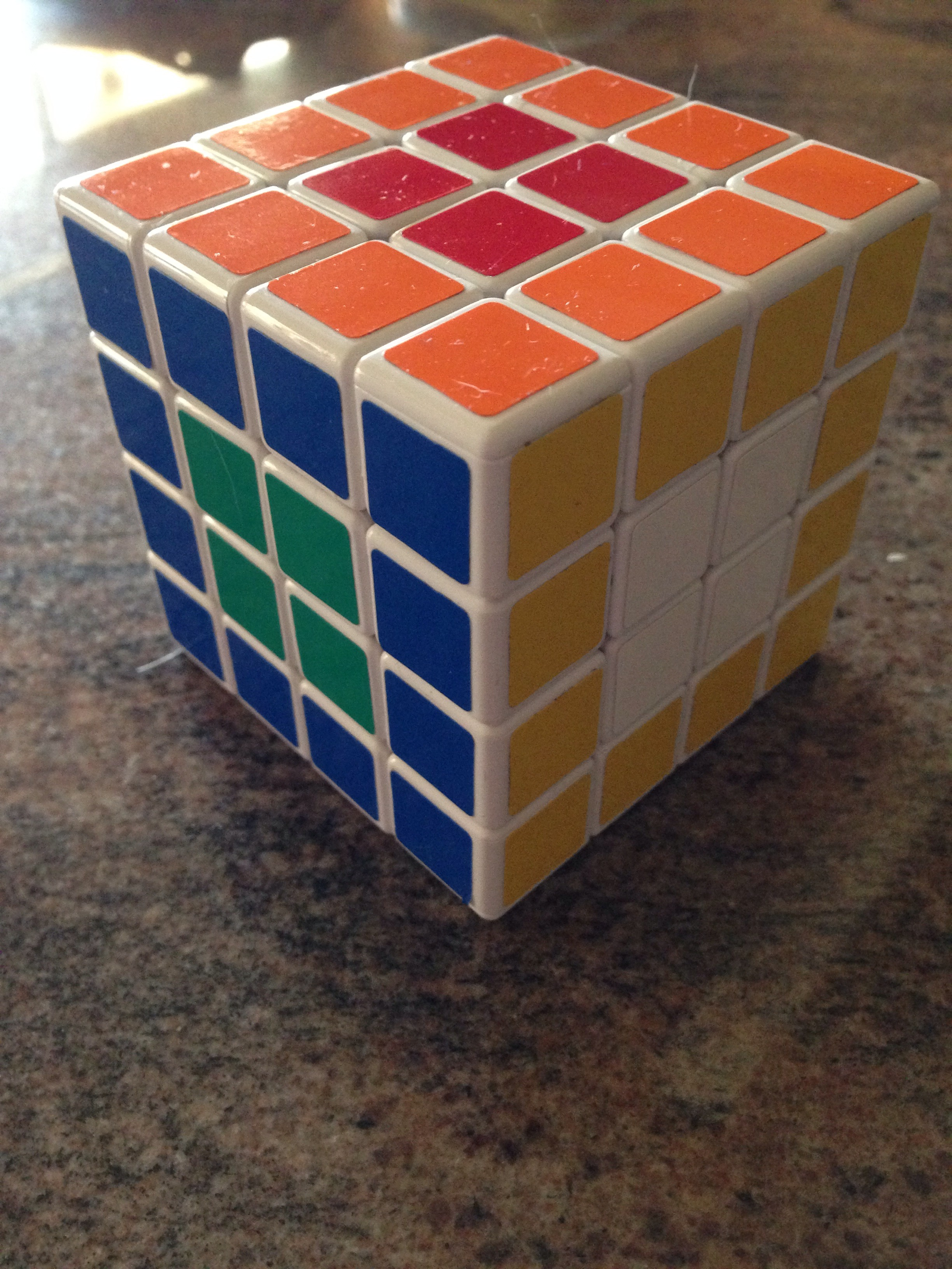 Picture of 4x4x4 Rubiks Cube Opposite Side Flowers