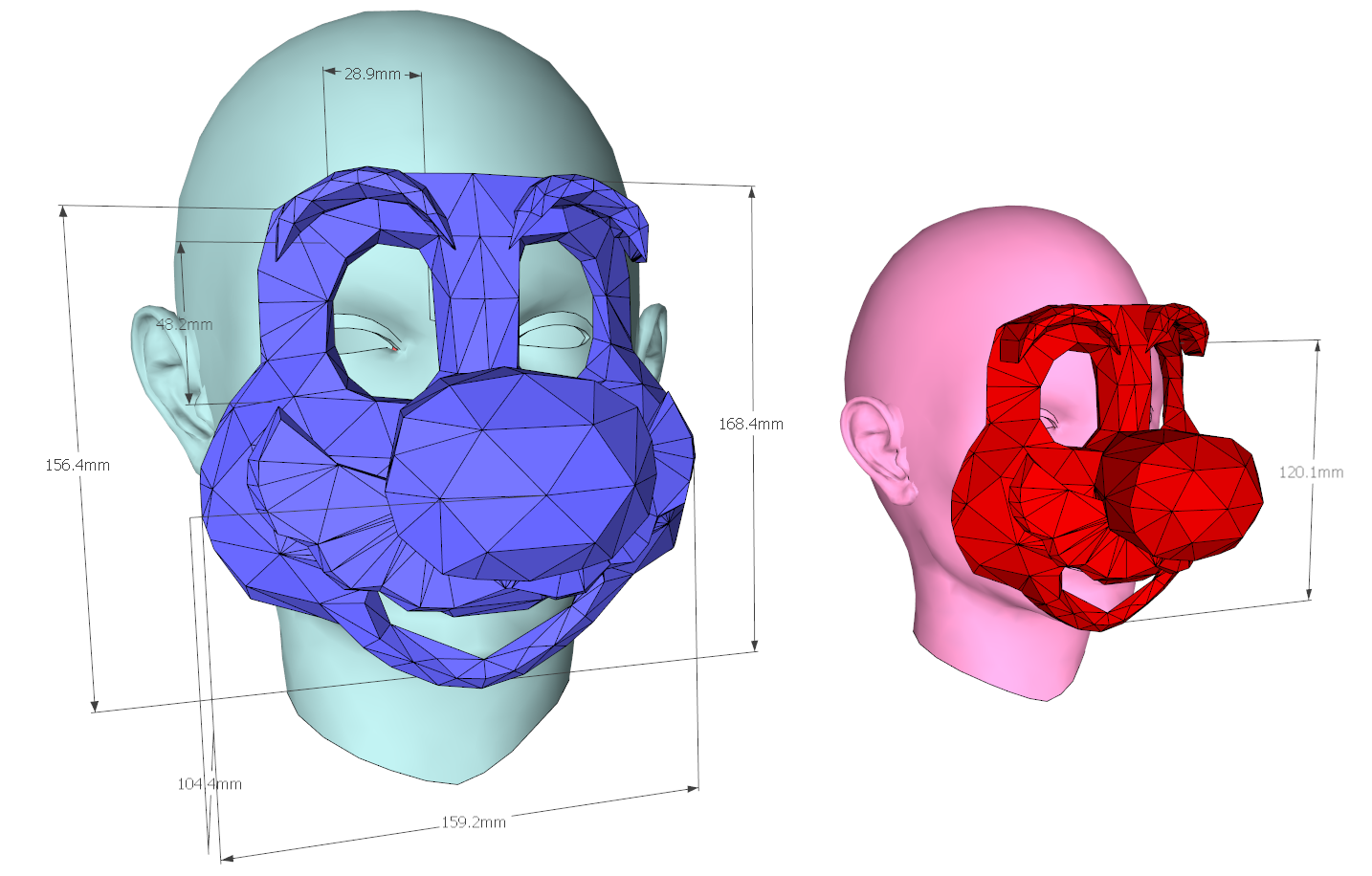 Picture of 3D Printable 16 Bit Plumber Mask