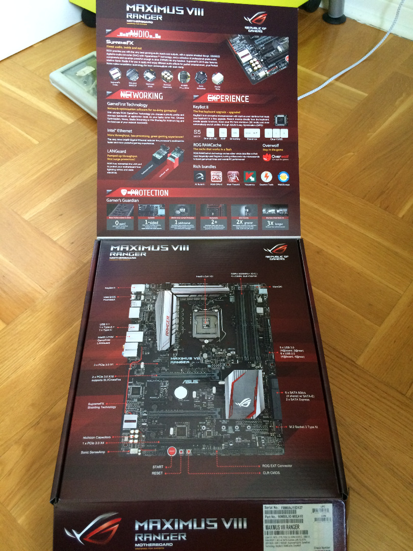 Picture of Motherboard, CPU, Memory