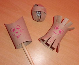 Paper Roll Cat Toys