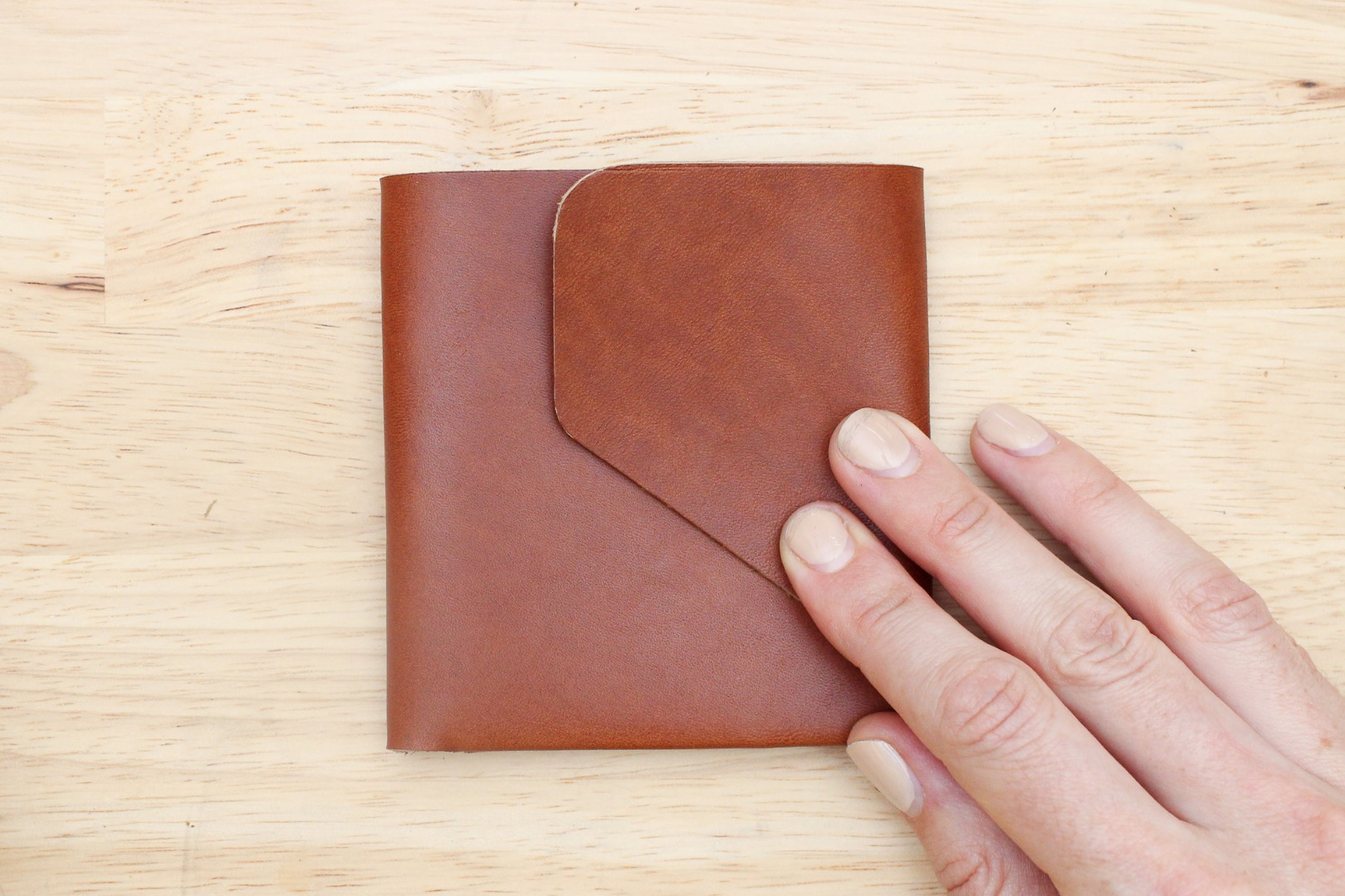 Picture of Make a Center Fold in the Wallet