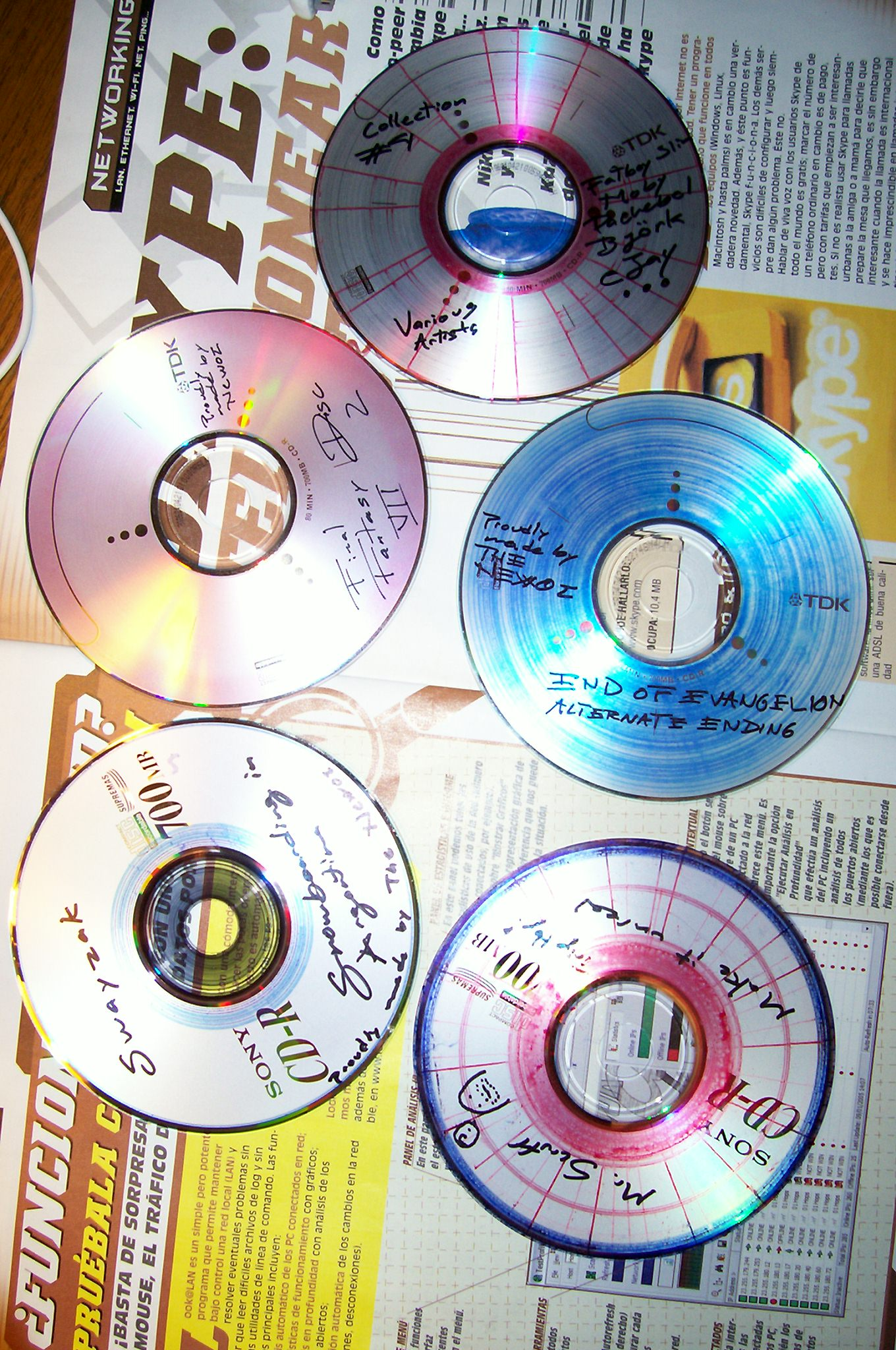 Picture of Artistic Designs on Compact Discs